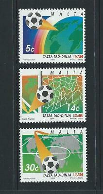 1994 MALTA World Cup Soccer Set MNH (Scott 836-838)