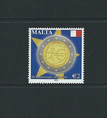 2009 MALTA 10th Anniversary Euro Currency MNH (Scott 1364)