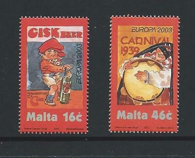 2003 MALTA Europa - Poster Art Set MNH (Scott 1123-1124)