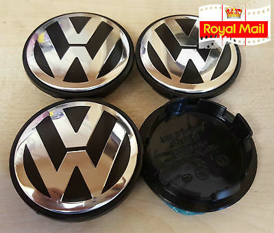 Next Day Delivery VW Volkswagen Alloy Wheel Centre x4 65mm Golf Lupo Passat Polo