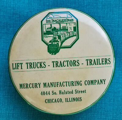 The TRACKLESS TRAIN Advertising Celluloid brush - Parisian Novelty Chicago