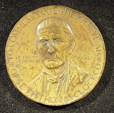 1913 Seth Thomas Clock Company 100th Anniversary Bronze Medal