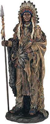 Native American Warrior Collectible Indian Decoration Figurine Statue Crafts Pa