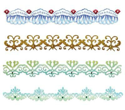 1 Stanzschablone SCHNÖRKEL BORDÜREN Card Edges Decorative Strip Sizzlits SIZZIX