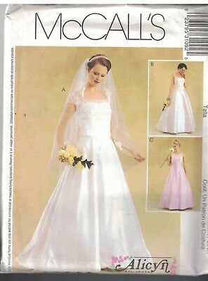 McCall/'s 8563 Miss Alicyn Exclusives Bridal Gown Pattern 6-10//10-14//12-16//14-18