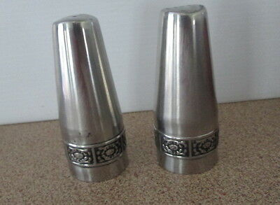 Vintage Wiltshire Stainless Steel Metal Salt & Pepper Shakers Retro