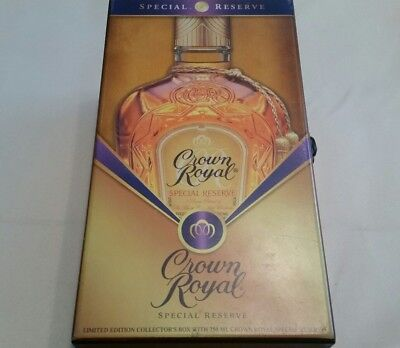 Crown Royal Special Reserve Whiskey Limited Edition Velvet Lined Box with bottle
