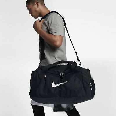 Nike Hoops Elite Air Max Duffle Bag Training Gym Sports Black White  BA4881-001 70d7b98531