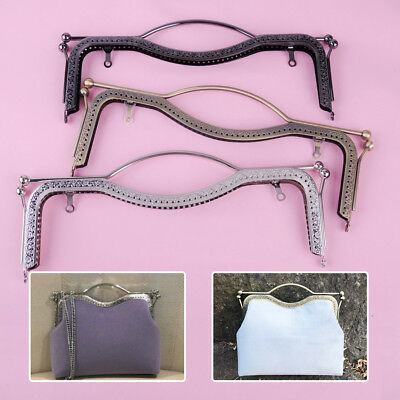 27cm Metal Arch Flower Purse Tote Bag Frame Kiss Clasp Lock Clip Bags Making