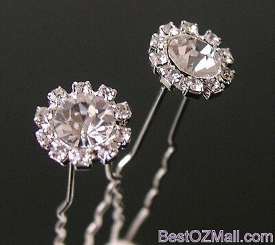 Wedding Bridal Rhinestone Hair Pins Ladies Womens Jewellery Hair Accessories