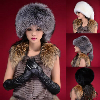 Women Russian Warm Fluffy Faux Fur Hat Headband Lady Winter Earwarmer Ski Cap