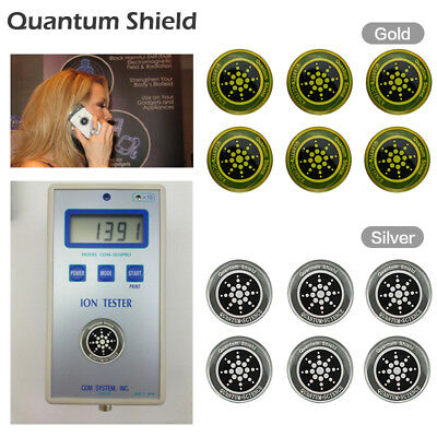 6PC Mobile Phone Anti Radiation Protection Sticker Quantum Shield For Cell Phone