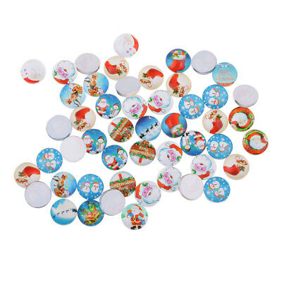 50pcs 10mm Round Glass Cabochon Dome Jewelry Finding for Christmas Gifts DIY