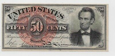 #1374 50c Fourth Issue-Design 184-US Fractional Currency-CH63-Catalog $1100  h53