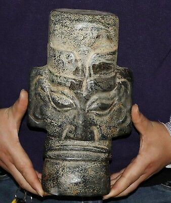 7kg/15lb Chinese jade carved Hongshan culture style jade statue height 28.8cm