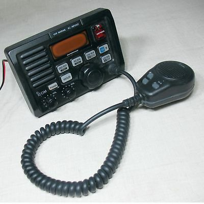 Icom Ic-M502 Ic-M502A Vhf Marine Radio Transceiver Command With Microphone