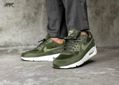newest a809a 657dd Nike Air Max 90 Ultra 2.0 Leather Cargo Khaki Olive Running Men 924447-300  New