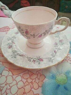 ROYAL TUSCAN, Fashion Rose, Bone China Cup & Side Plate. Made in England.