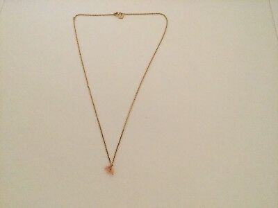 By Charlotte gold over silver necklace with 3 coral stones chain length is 44cm