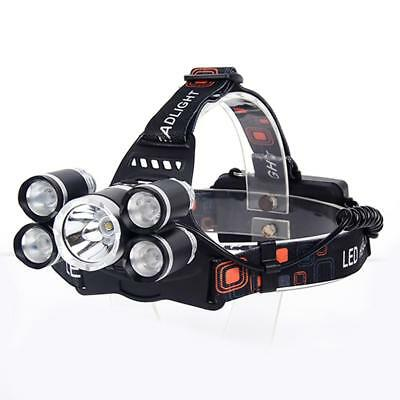 80000 LM 5X  T6 LED USB Headlamp 2X 18650 Battery Headlight Torch Charger DN
