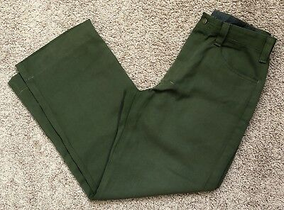 FSS Aramid Wildland Firefighter Pants Green Made in USA Size 32x30