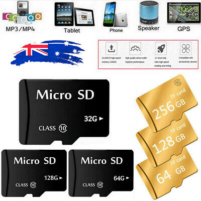 Micro SD Memory Card 32GB 64GB 128GB Flash TF Class 10 SDXC SDHC Card +Adapter