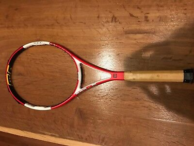 Pro Stock Tennis Racquet- Wilson Pro Staff Six One used by Brian Baker