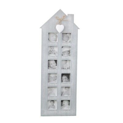Baby My First Year 12 Month 12 Photo Hanging Photo Wooden Frame Wall Baby's Gift