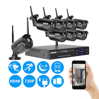 8CH 1080N CCTV Wireless NVR 1500TVL Outdoor IP Network Security Camera System