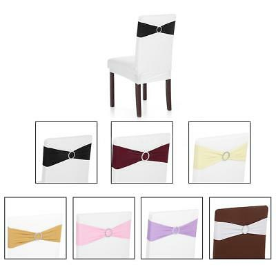 Remarkable Wedding 50Pcs Elastic Spandex Dining Chair Cover Sashes Bows Lamtechconsult Wood Chair Design Ideas Lamtechconsultcom