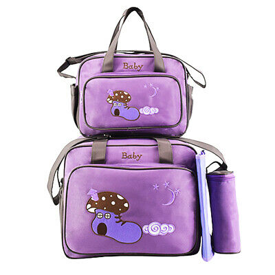Yummy Mummy Changing Bag Maternity Baby Nappy Diaper Bag 4pcs Wipe Clean