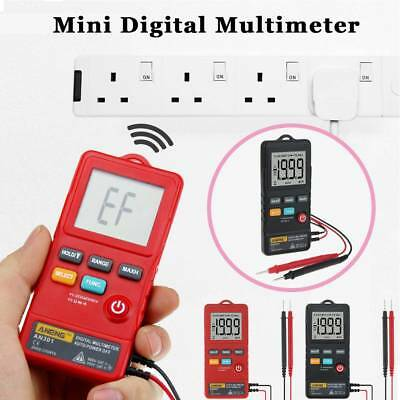 LCD Mini Auto Range AC/DC Pocket Digital Multimeter Voltmeter Tester With LED