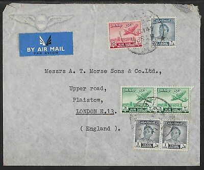 Iraq Air Mail Cover 22 July 1949 with Uncatalogued(?) Palestine Aid Tax Stamp