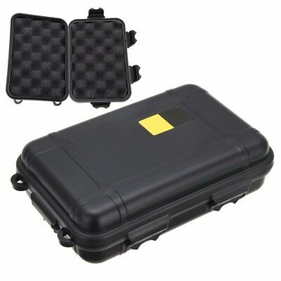 Waterproof Survival Container Shockproof Outdoor Storage Case Carry Box Black