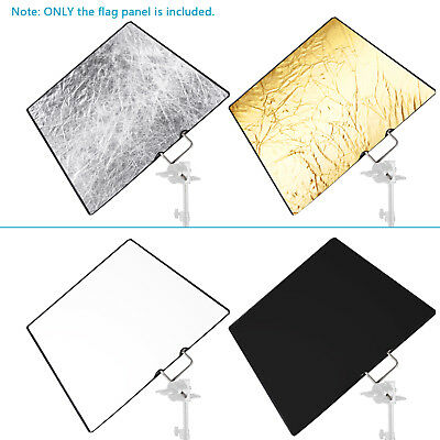 Neewer Photo Video Studio 30x36 inches 4-in-1 Metal Flag Panel Set Reflector
