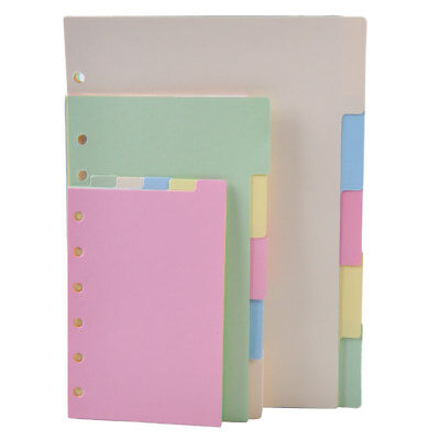 5pc A5/A6/A7 Blank Index Multi-Colored Tabs Dividers Insert Text Refill Organise