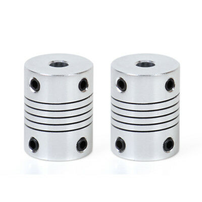 2 pcs 5mm x 8mm For Motor Z Axes CNC Flexible 3D Printer Shaft Coupler Coupling