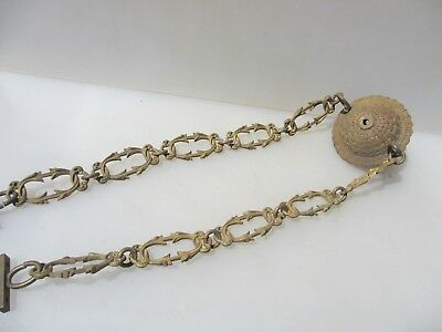 Victorian Brass Ceiling Light Hook Chandelier Hanger Rose Bracket Chain Antique