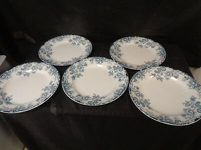 "KEELING LATE MAYERS LOSOL WARE TOKIO c1912 -5 DINNER PLATES 10 1/4""  (ss)"