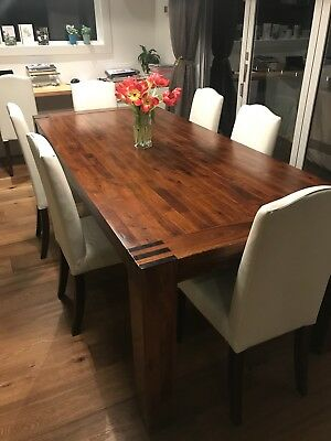 Dining table and 8 chairs used