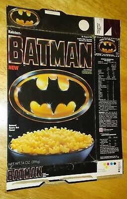 Ralston Batman Cereal Box 1989 Used Empty Folded