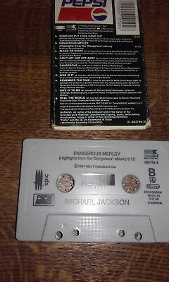 """1992 Michael Jackson Cassette Tape(Pepsi Promo Exclusive""""someone Put Hand Out"""