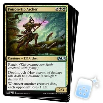 POISON-TIP ARCHER X4 Core Set 2019 M19 Magic MTG MINT CARD