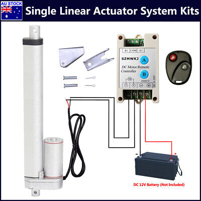 DC 12V Linear Actuator System Kit +Positive Inversion Controller +Mount Brackets