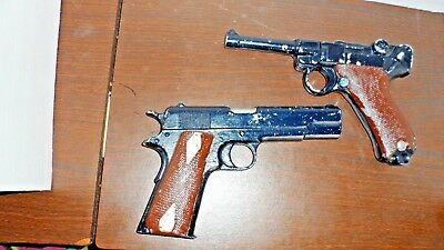 Old Replica 2>Vintage/antique Cast Iron Hand Guns/pistils  Non-Firing Decor