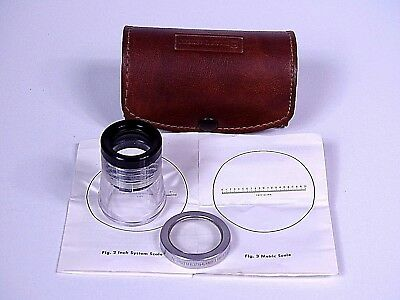 Bausch & Lomb, Lupe, Messlupe,Measuring Magnifier, Metric Scale Mod.81-34-35 Neu