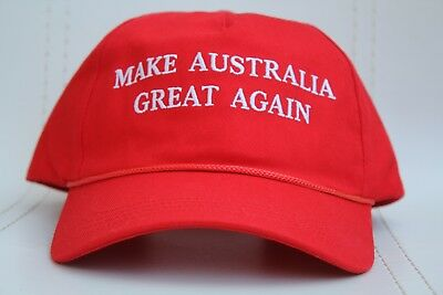 ONE make australia great again hat cap aussie australian trump donald Free Post