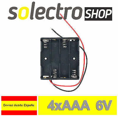 Portapilas 4x AAA 6V Porta 4 Pilas Battery holder LR03 PP01