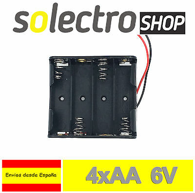 Portapilas 4x AA 6V Porta 4 Pilas Battery holder LR06 PP03