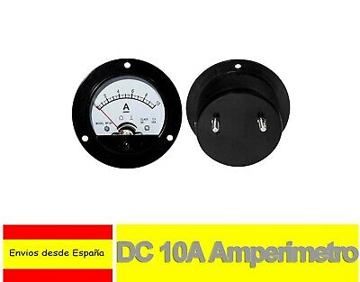 DC 10A Amperimetro Analógico Panel Medidor Amperaje 0 a 10A Shunt built-in H0046